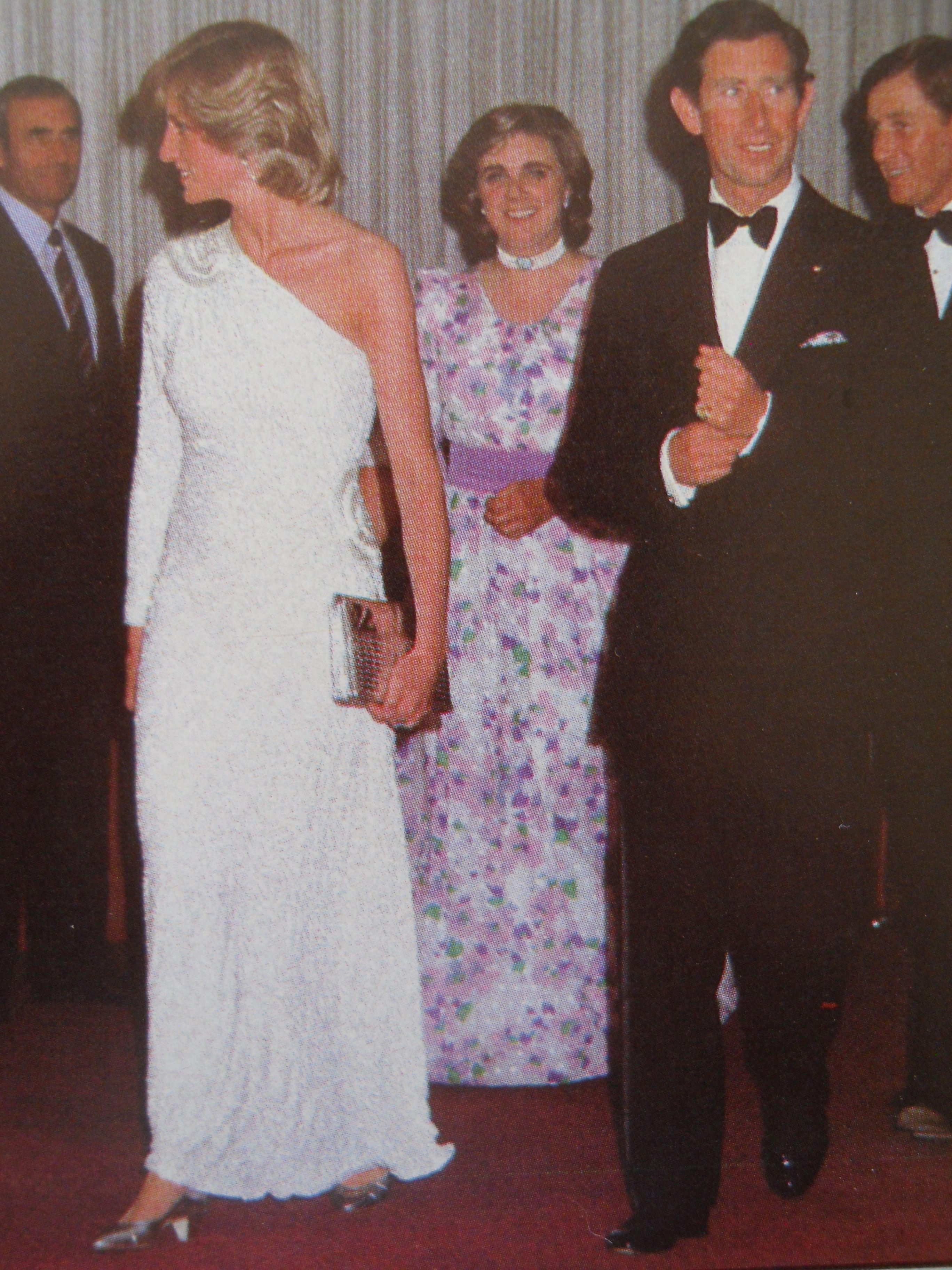 April 16, 1983: Prince Charles & Princess Diana at a Dinner & Ball at…
