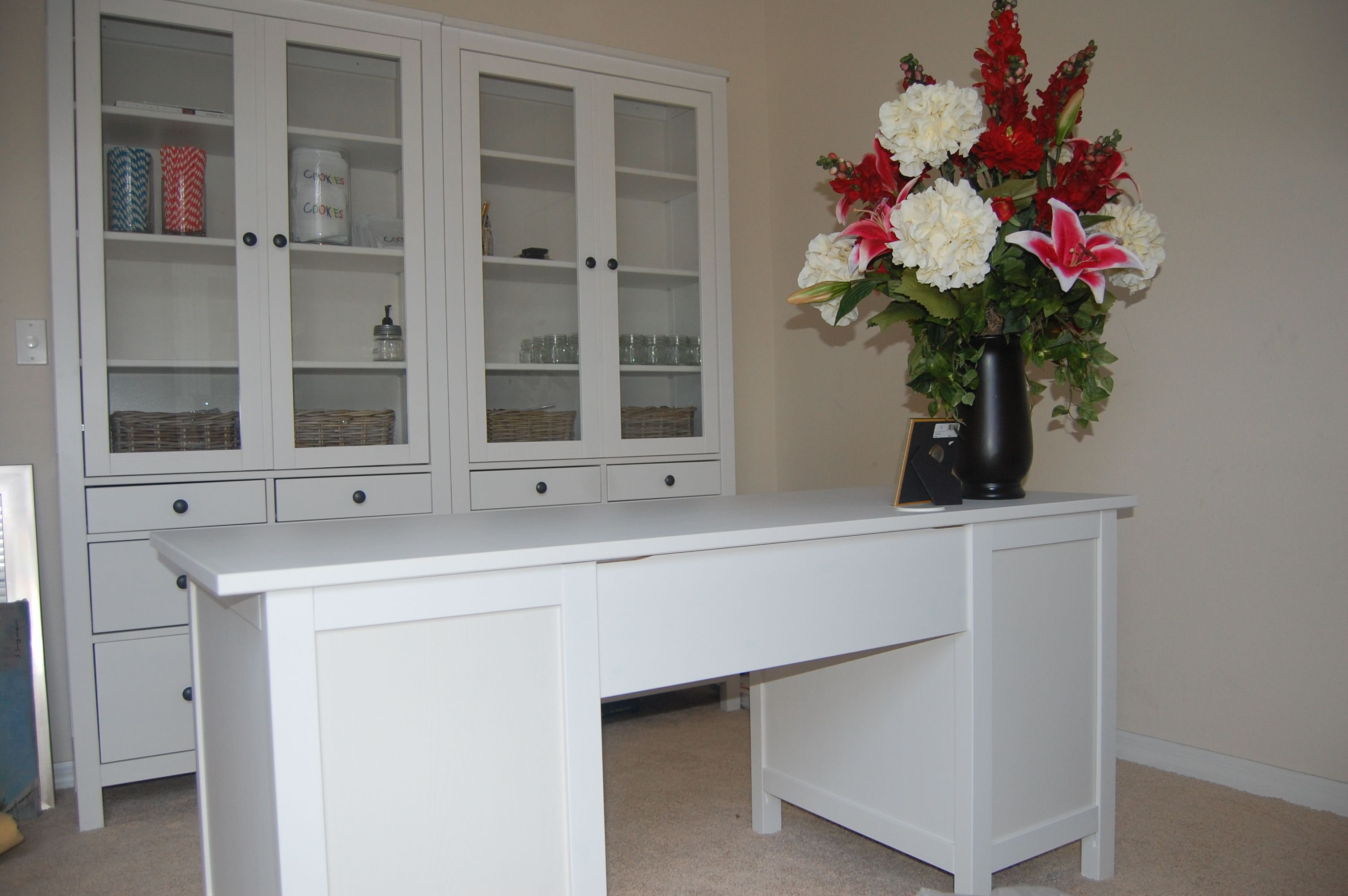 Office Playroom Ideas Pottery Barn Inspiration Ikea Hemnes Desk And Book  Shelves In Our With Ikea Ideen Hemnes