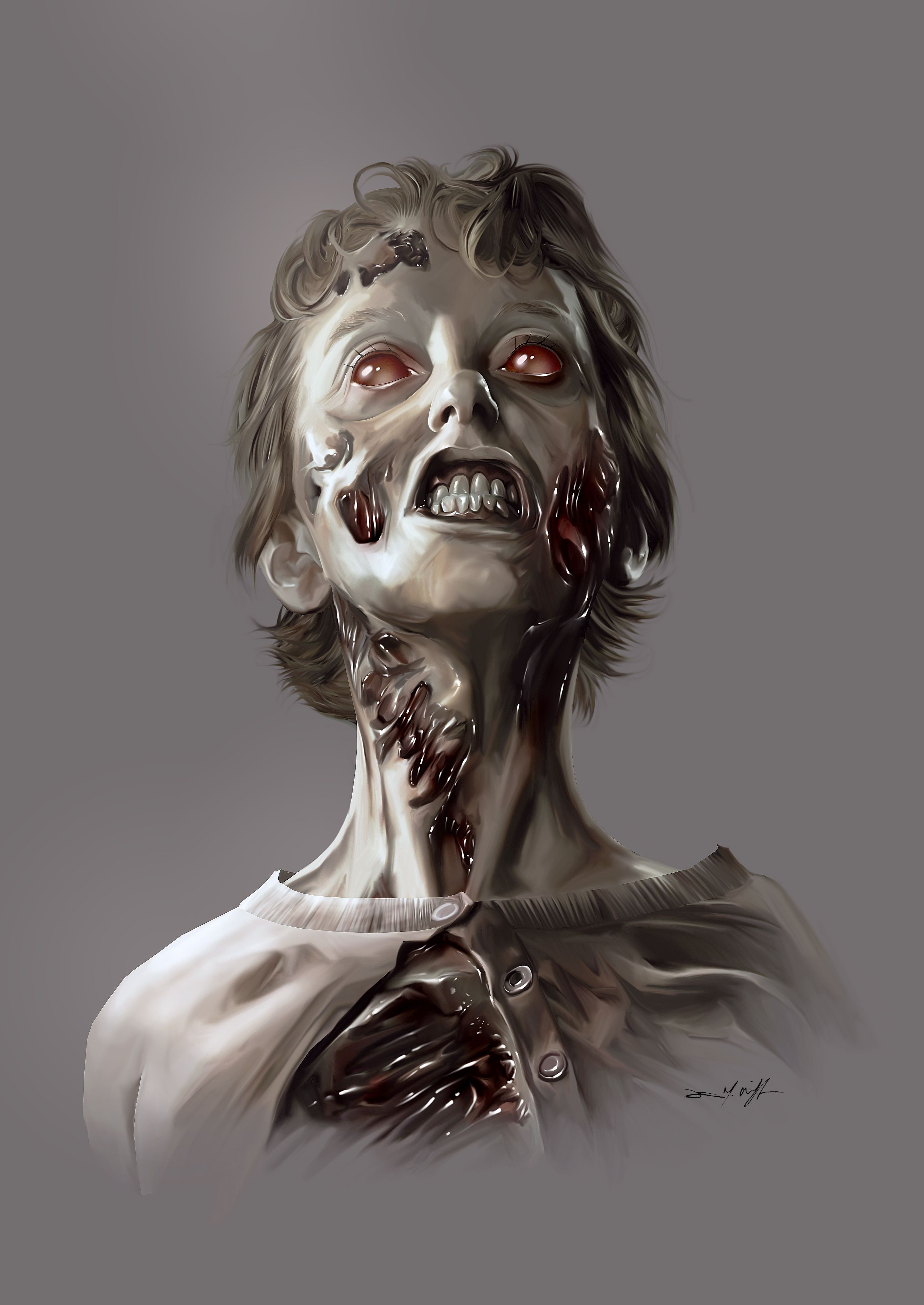 Zombie Woman Zombies Pinterest Mort Painting And Zombies