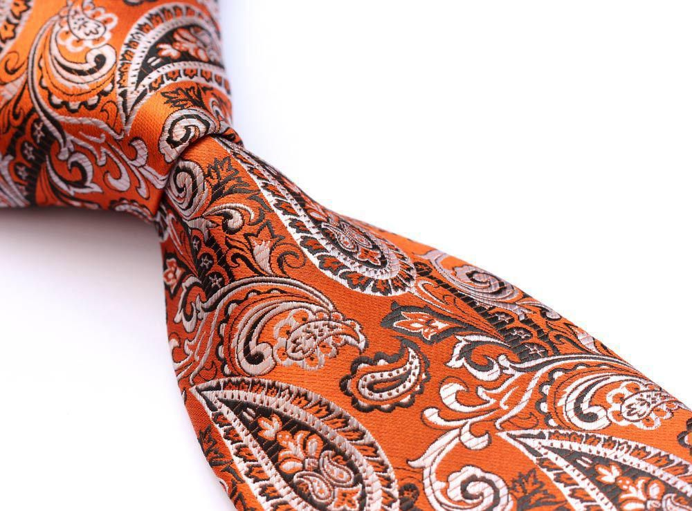 Wholesale Tf4040n8 Orange Paisley 100% Silk 3.4 New Jacquard Woven Classic Man'S Tie Necktie+ Neck Ties From Maikeab, $13.94 | Dhgate.Com