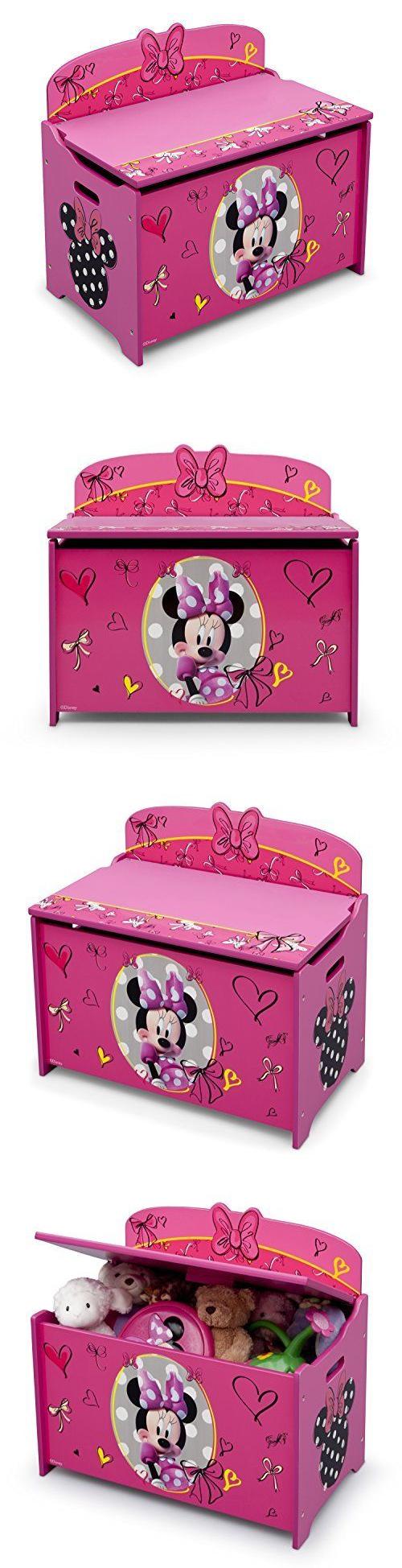 Toy Boxes 94932: Delta Children Deluxe Toy Box, Disney Minnie Mouse Toy  Storage Box