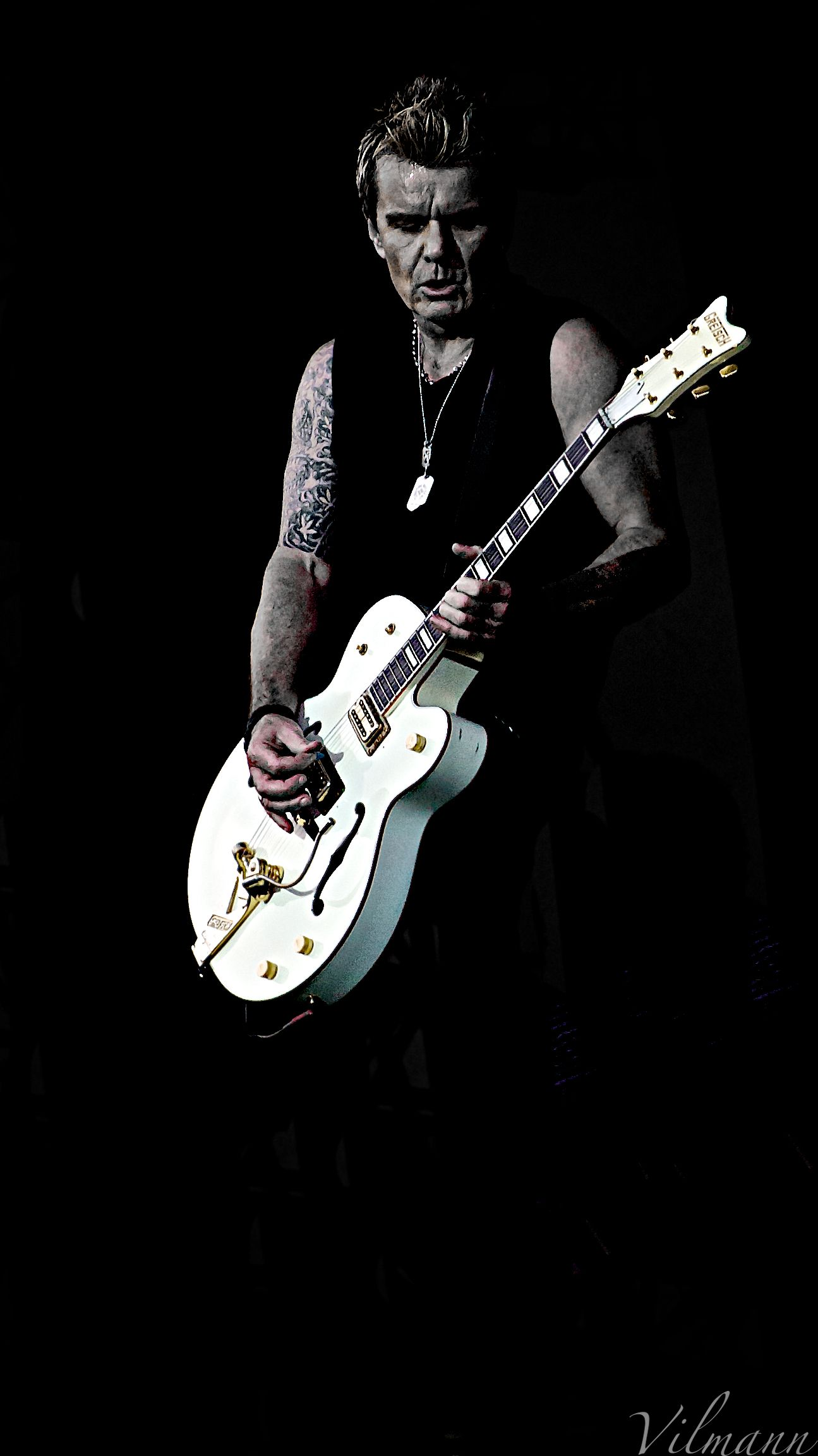 b3948802e Billy Duffy and the famous white guitar | Way Cool Rock'n Roll ...