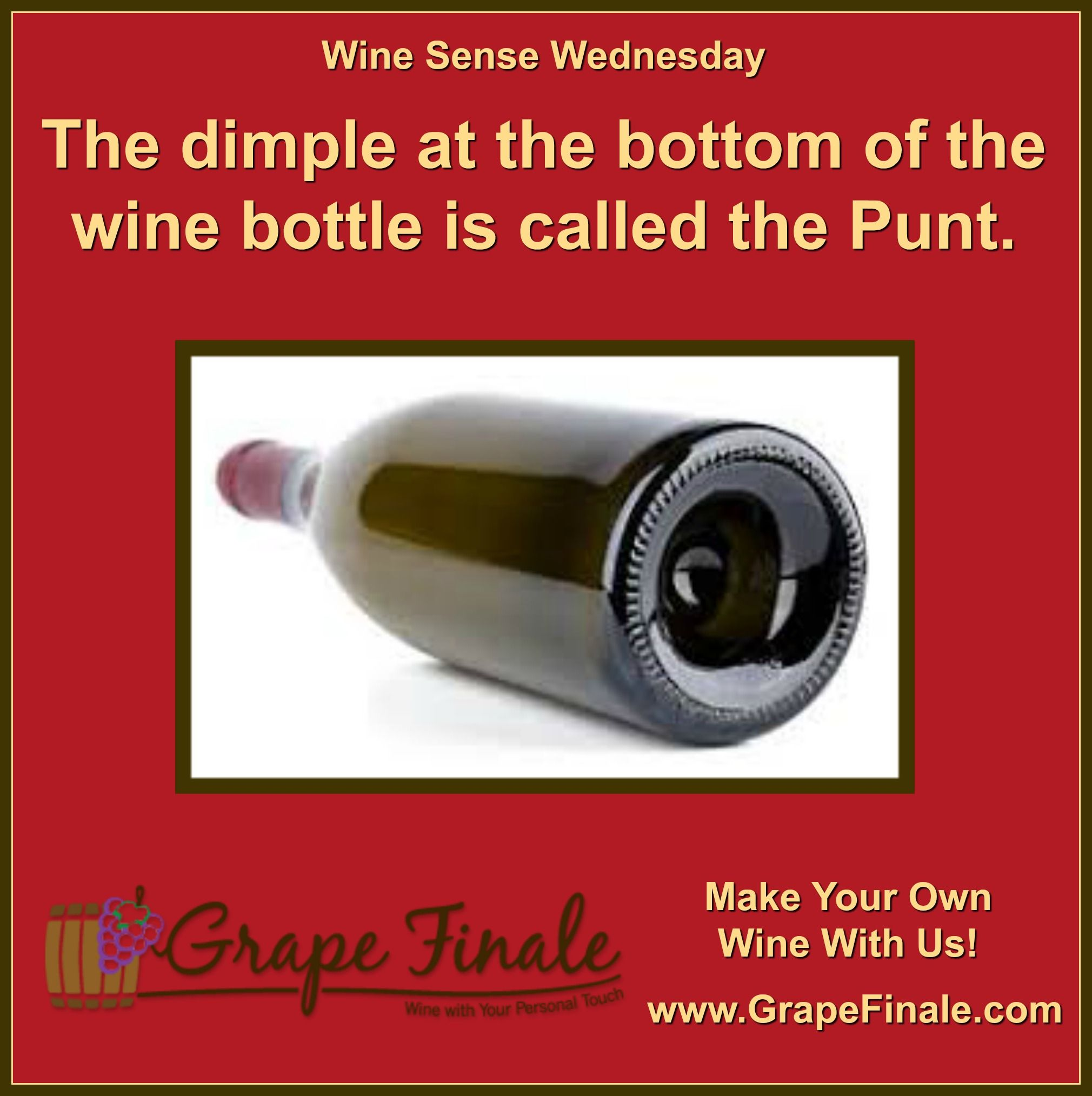 Historically Punts Were A Function Of Wine Bottles Being Made By Glassblowers The Seam Was Pushed Up To Make Sur In 2020 Wine Aging Wine Making Equipment Wine Bottle