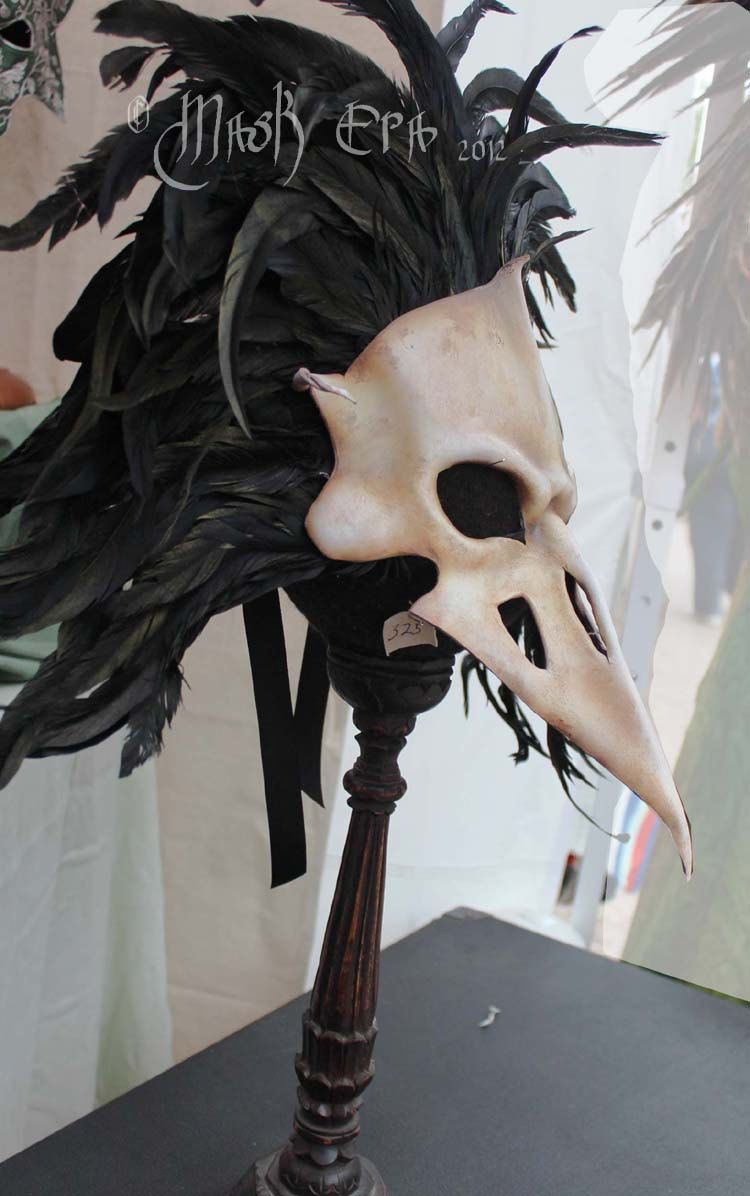 RESERVED Sterling Redfield Corax Crow Skull. Handmade Leather Mask ...