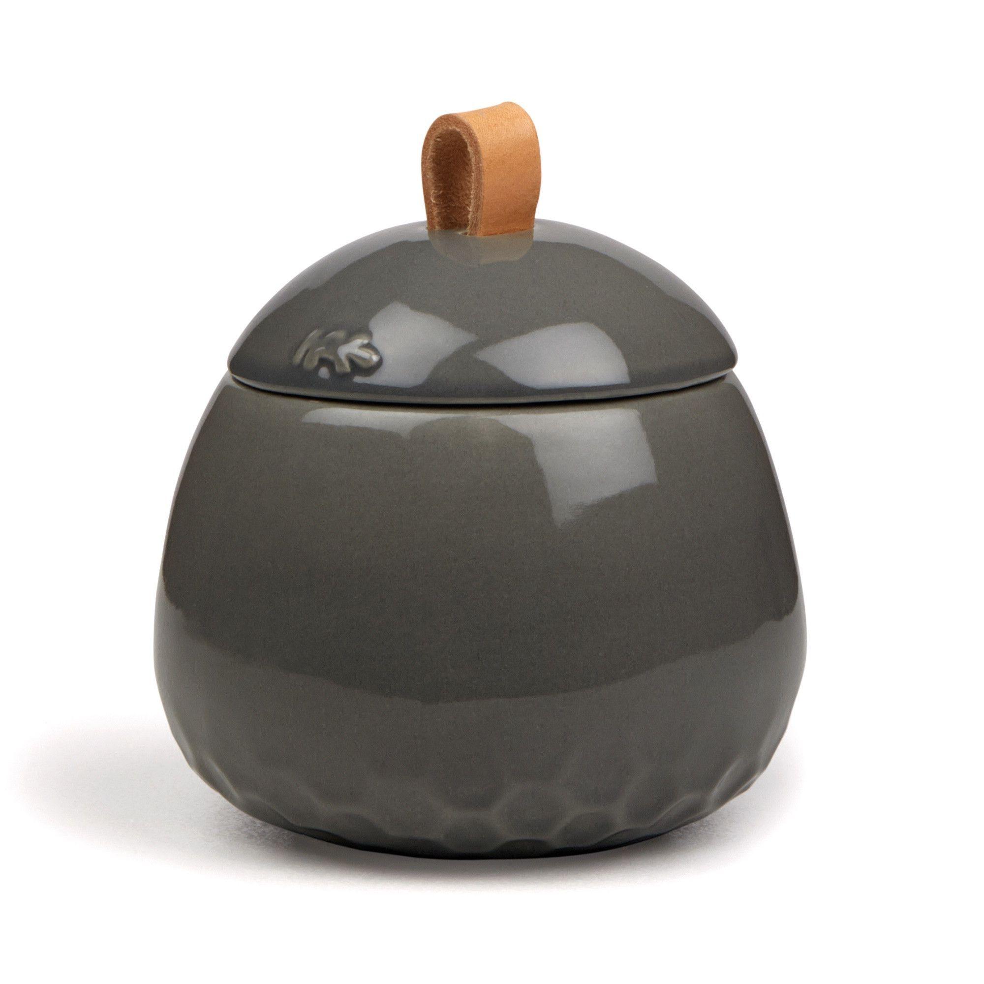 Kahler Mellibi Bathroom Storage Canister Storage Jar Small Gray