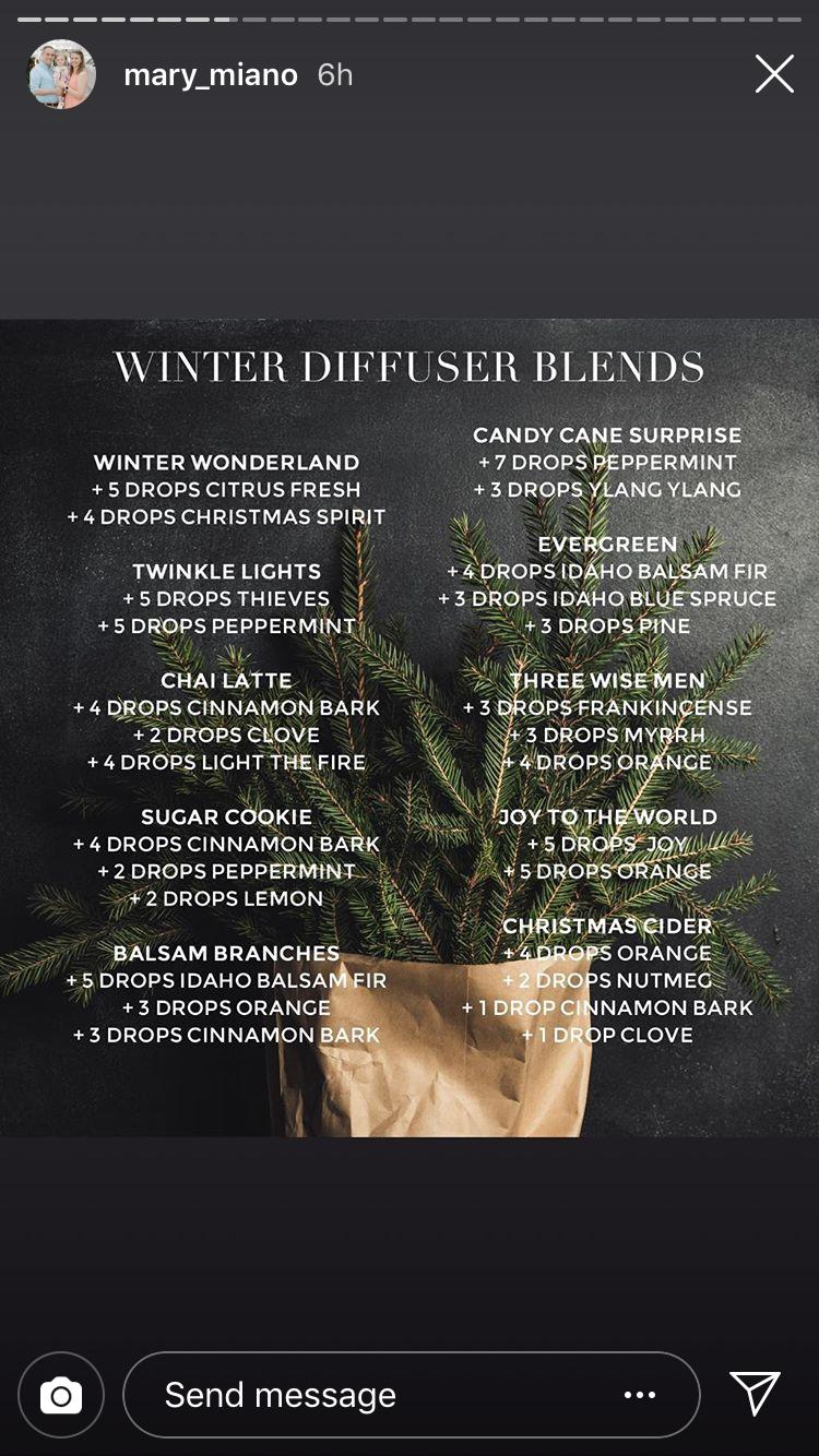 Winter Diffuser Blends #winterdiffuserblends Winter Diffuser Blends #winterdiffuserblends
