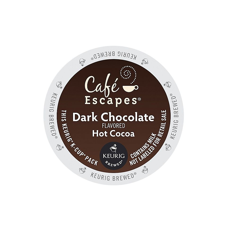 Cafe Escapes Café Escapes Dark Chocolate Hot Cocoa Keurig K-Cup Pods 16 Count