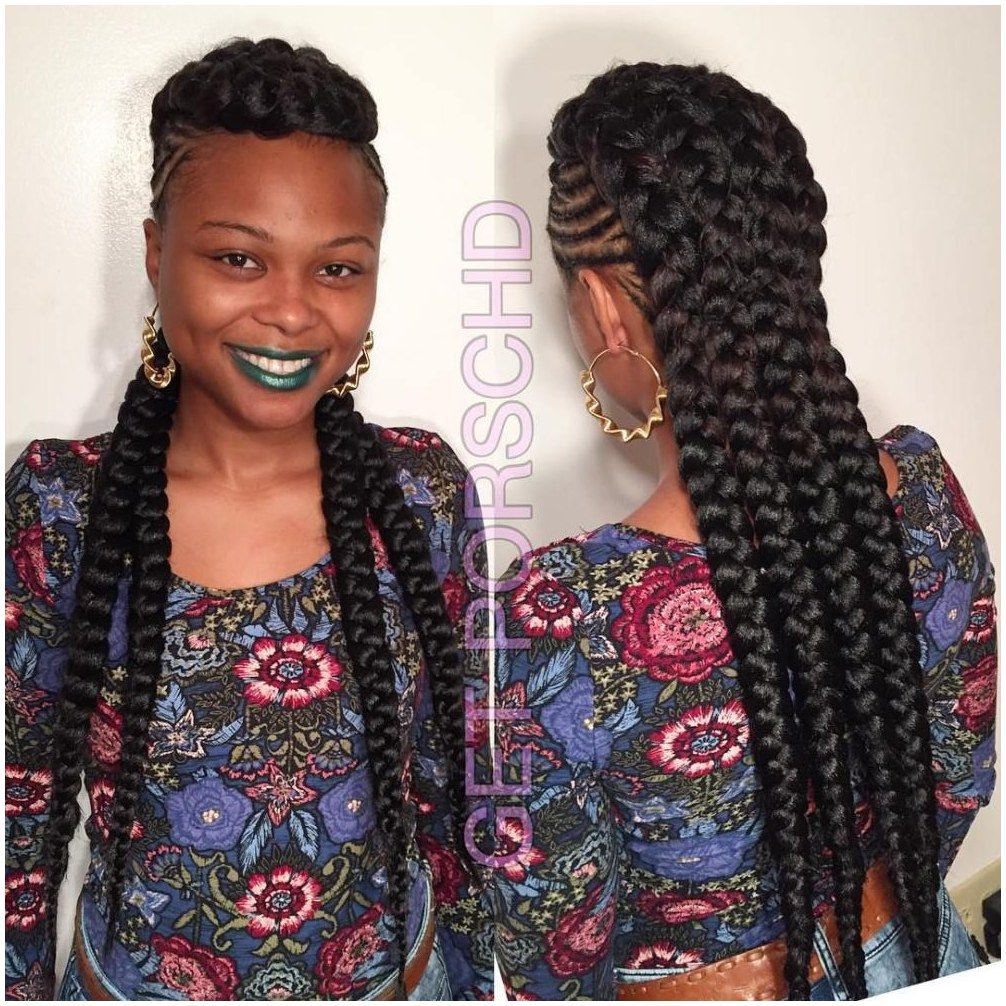 Hair boxbraids haircut braided mohawk with chunky braids click now