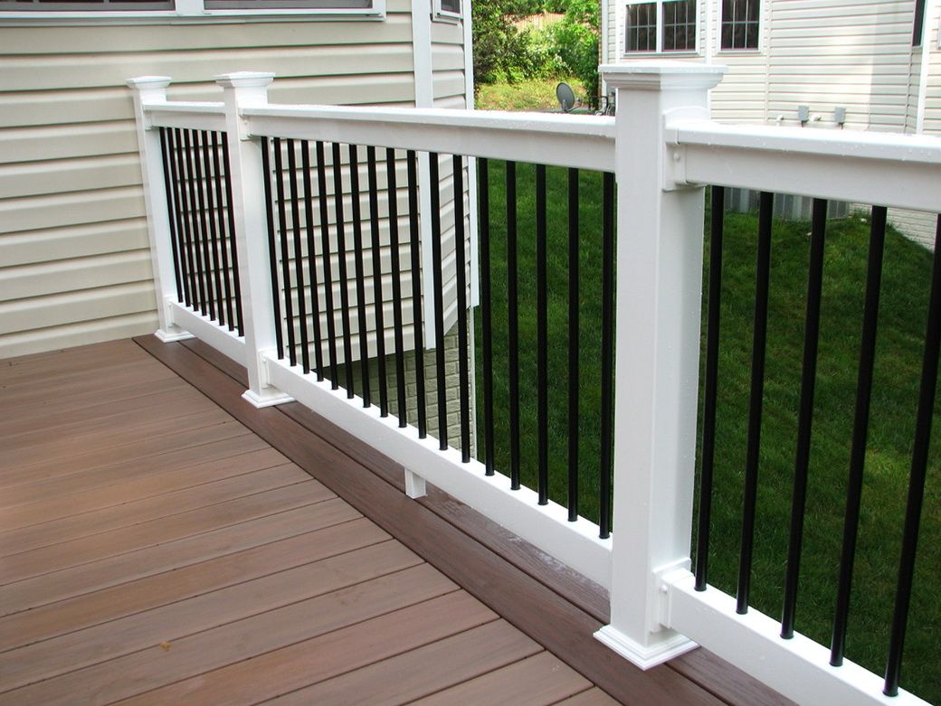 Black Vinyl Porch Railing Porch Railing Front Porch Railings Porch Railing Kits