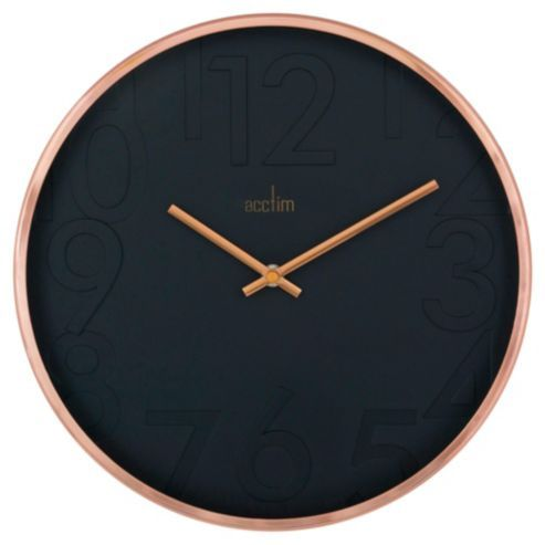 Gorgeous Copper And Black Acctim Wall Clock Available As Part Of Tesco Home Range