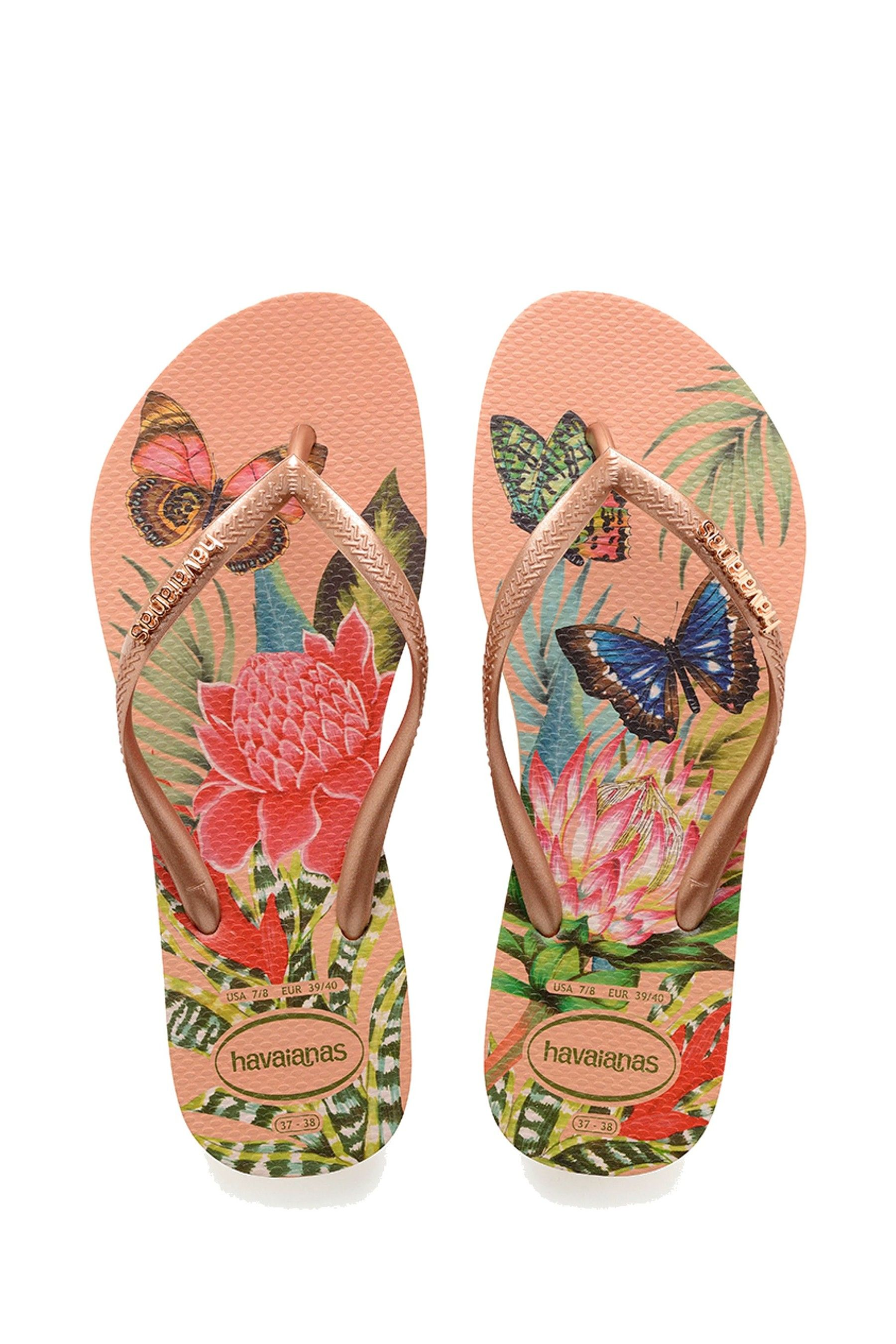 Havaianas Slim Thematic Collection Flip Flops Authentic Brazilian-Latest Arrival