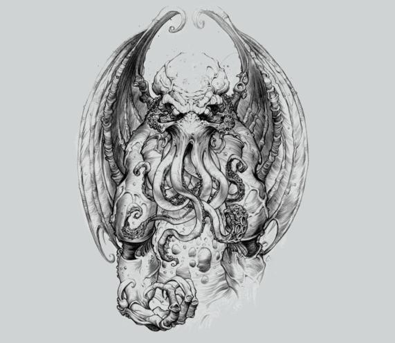 God Of Cosmic Horror Cthulhu Tattoo Cthulhu Art Cosmic Horror
