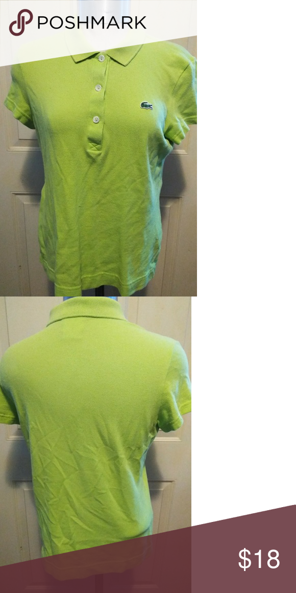 dd73f8c809b Chartreuse Green Lacoste Polo Shirt Euro size 42? Lacoste alligator women's  polo shirt in bright chartreuse green. I love offers! Lacoste Tops Tees -  Short ...