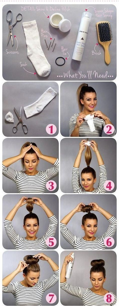 Hairstyles for children with long hair sock buns 63 Id /