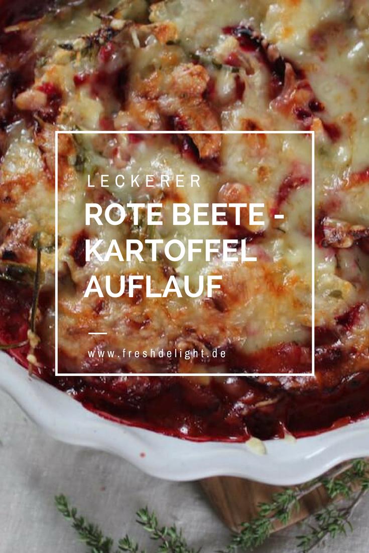 Rote Beete-Kartoffel-Auflauf mit violetten Kartoffeln / Ofen auf Leckerei rein - freshdelight