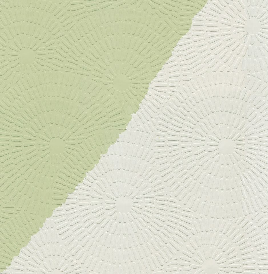 Contemporary Dandelion Circle Raised White Textured Paintable Wallpaper CT188651 BlueMountain