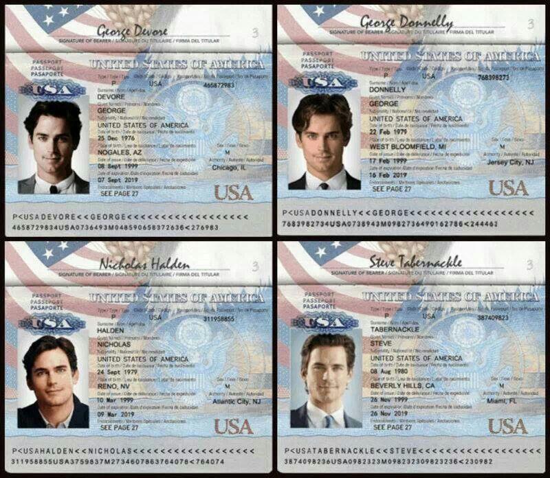 Some of Neal's aliases | Matt bomer white collar, White collar ...