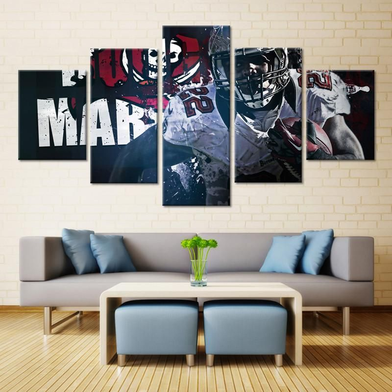 Tampa Bay Buccaneers Wall Art Canvas Nfl Sport College Football Wall Art Football Wall Art Colorful Wall Hanging Wall Art