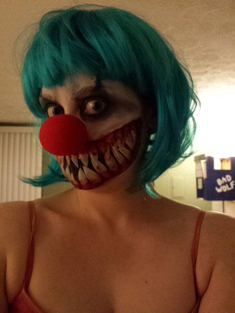 Scary costume success | Scary clown makeup, Creepy clown ...
