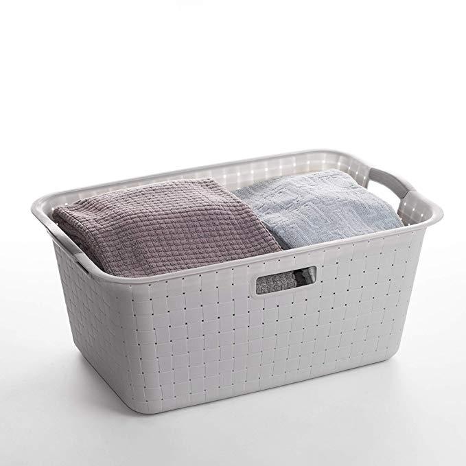 Amazonsmile Bino Woven Plastic Laundry Hamper Storage Basket