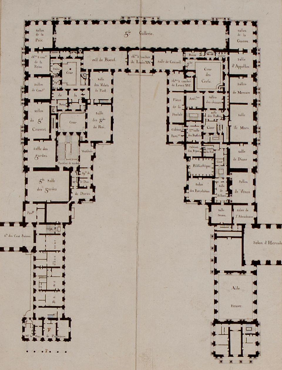 first floor plan chateau de versailles 1814 it shows the pre first floor plan chateau de versailles 1814 it shows the pre