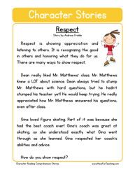 Respect worksheets - Talking with Trees Books