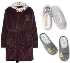 Harry Potter Dressing Gown Women's Primark Hogwarts Gryffindor Pyjamas Slippers