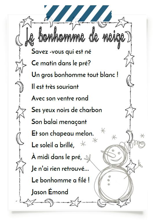 Poesie Le Bonhomme De Neige : poesie, bonhomme, neige, Bonhomme, Neige, Math,, Education,, Search, Puzzle