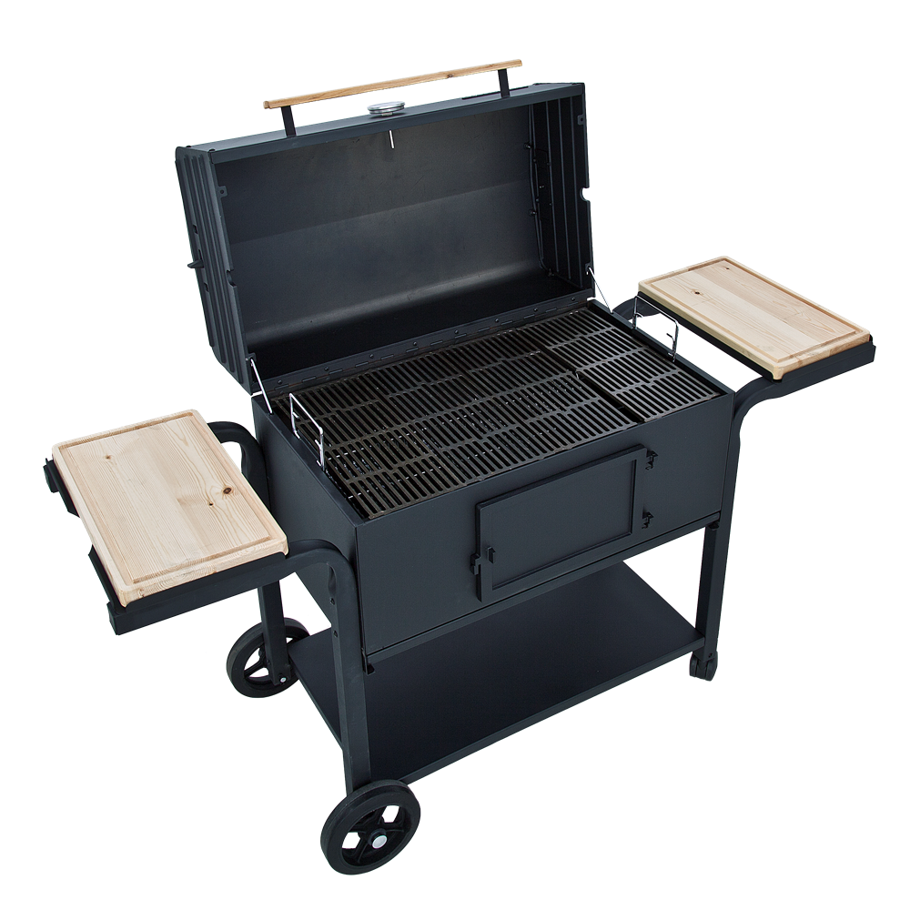 large char broil charcoal grill with cast iron grill grates 400