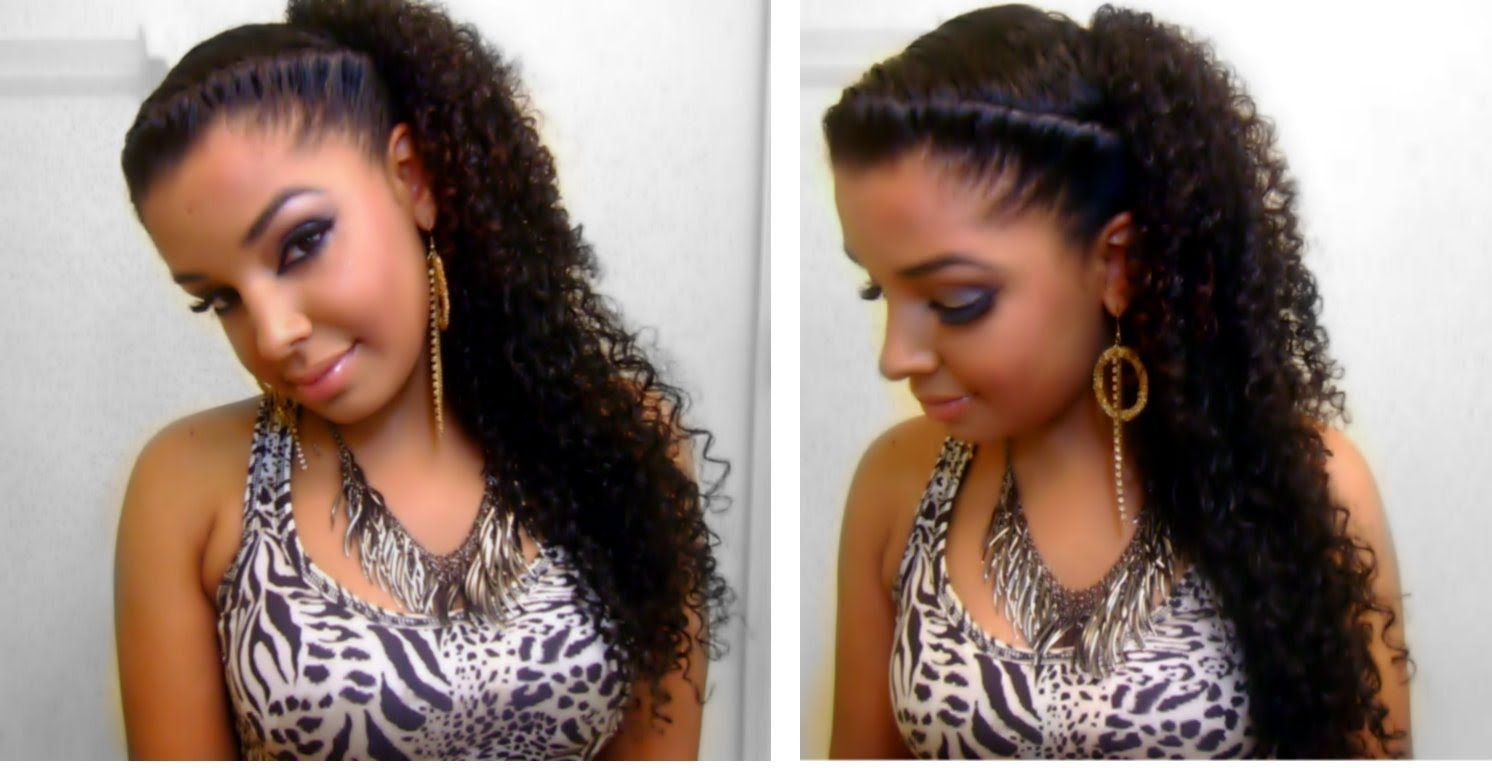 Simple Quick Hairstyles For Curly Hair Thick Curly Hair