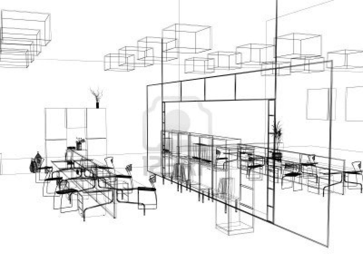 La moderna oficina de dise o de interiores boceto 3d render foto de archivo sistemes Kitchen design cad courses