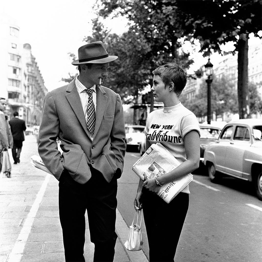 Jean-Paul Belmondo and Jean Seberg in BREATHLESS (1960) dir. Jean ...
