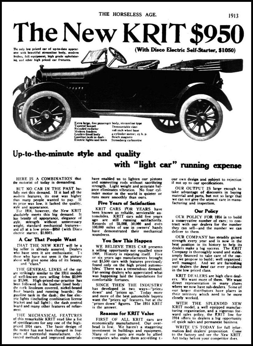 Car Brands Starting With P >> Horseless Age Car Advertising 100 Years Celebration