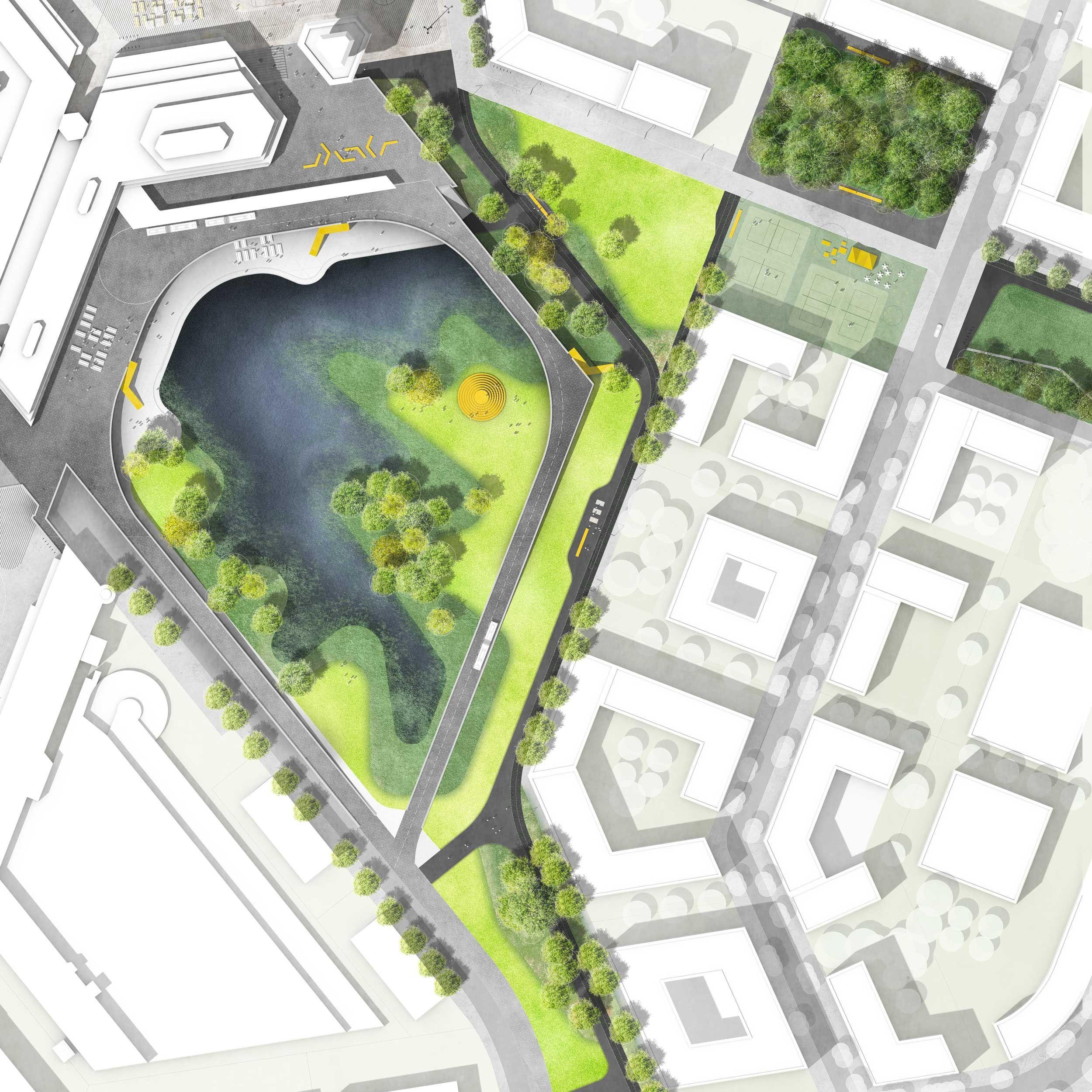 Wetlands atelier loidl landschaftsarchitekten berlin for Site plan with landscape