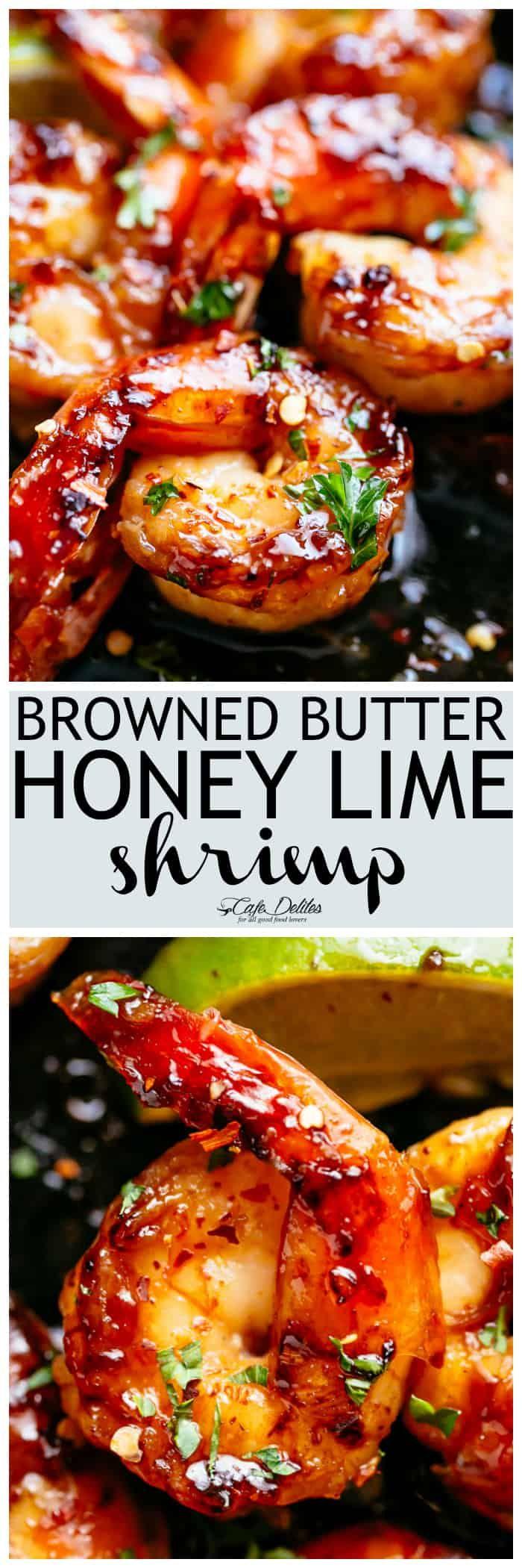 Photo of Browned Butter Honey Lime Shrimp – Cafe Delites