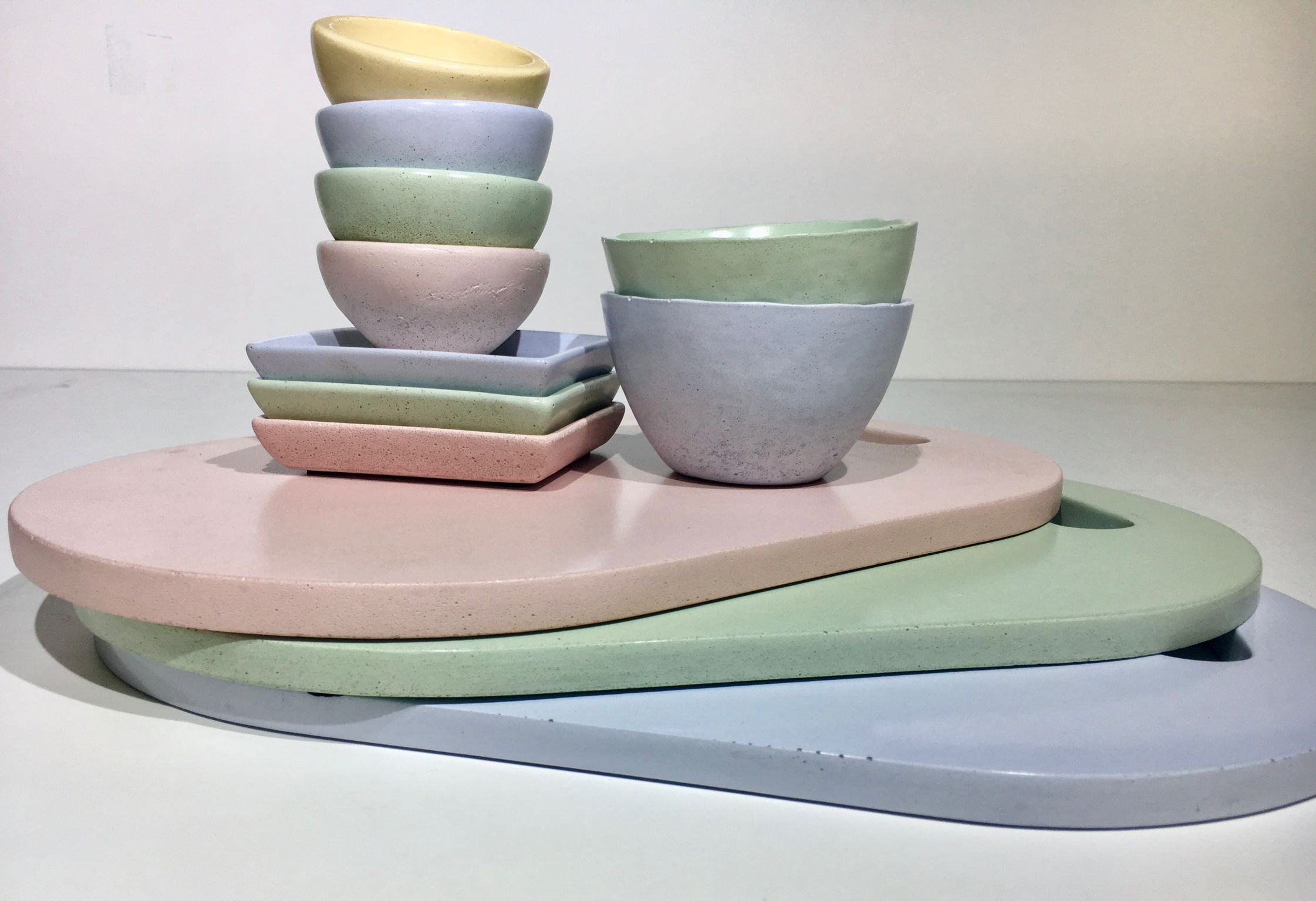 Pretty Pastels Ate The Perfect Addition To Our Slurry Concrete