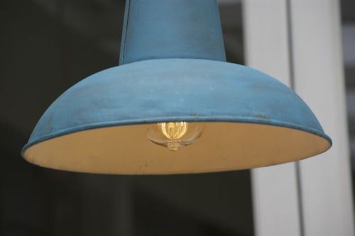 French Provincial Industrial Vintage Pendant Light French Blue Vintage Pendant Lighting Metal Pendant Light Blue Pendant Light