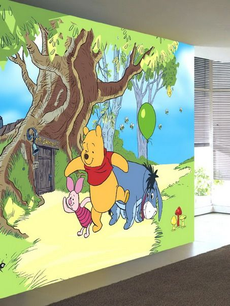 awesome preschool rooms Amazing Winnie the Pooh Wall Murals in