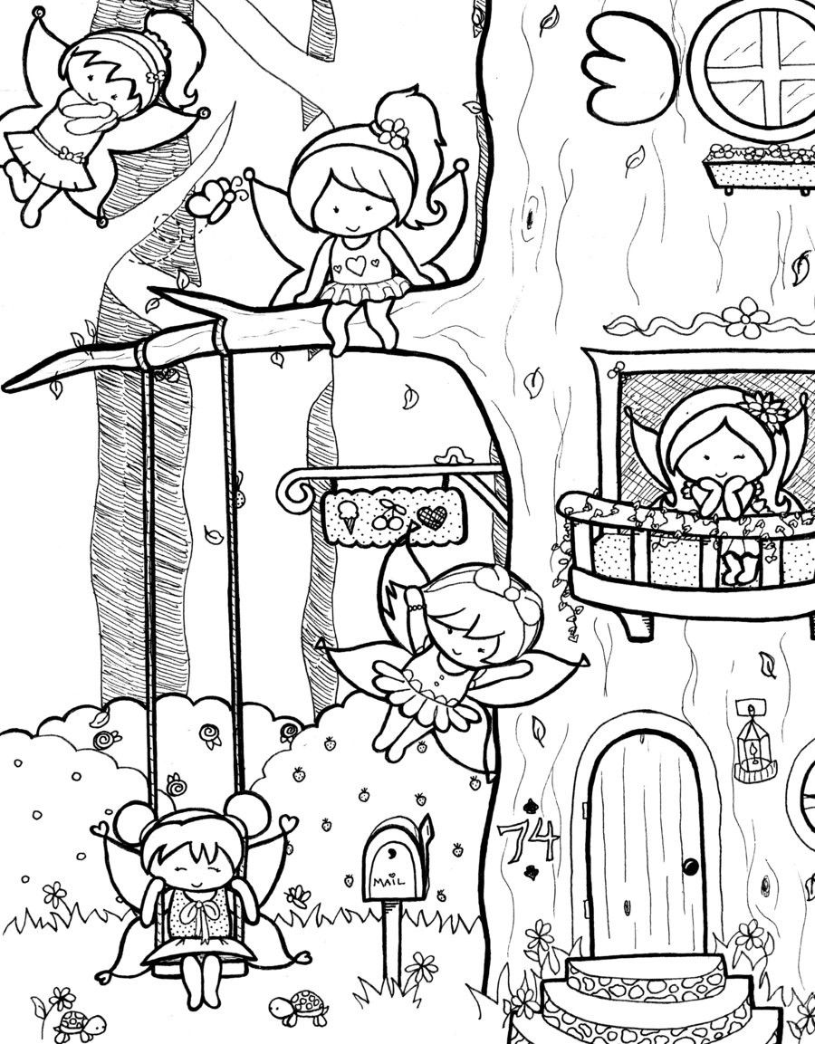 Cute Coloring Pages adults | Free Coloring. Cute Fairy Coloring ...
