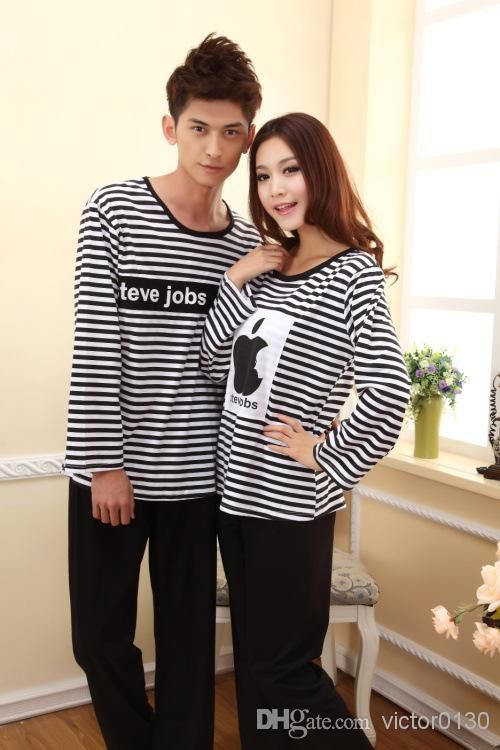 Best Spring And Autumn Men And Women Popeye Cartoon Couple Long-sleeved Pajama Suit Tracksuit M-L-XL-XXL Size Pajamas Couple Sleepwear Online with $28.91| DHgate