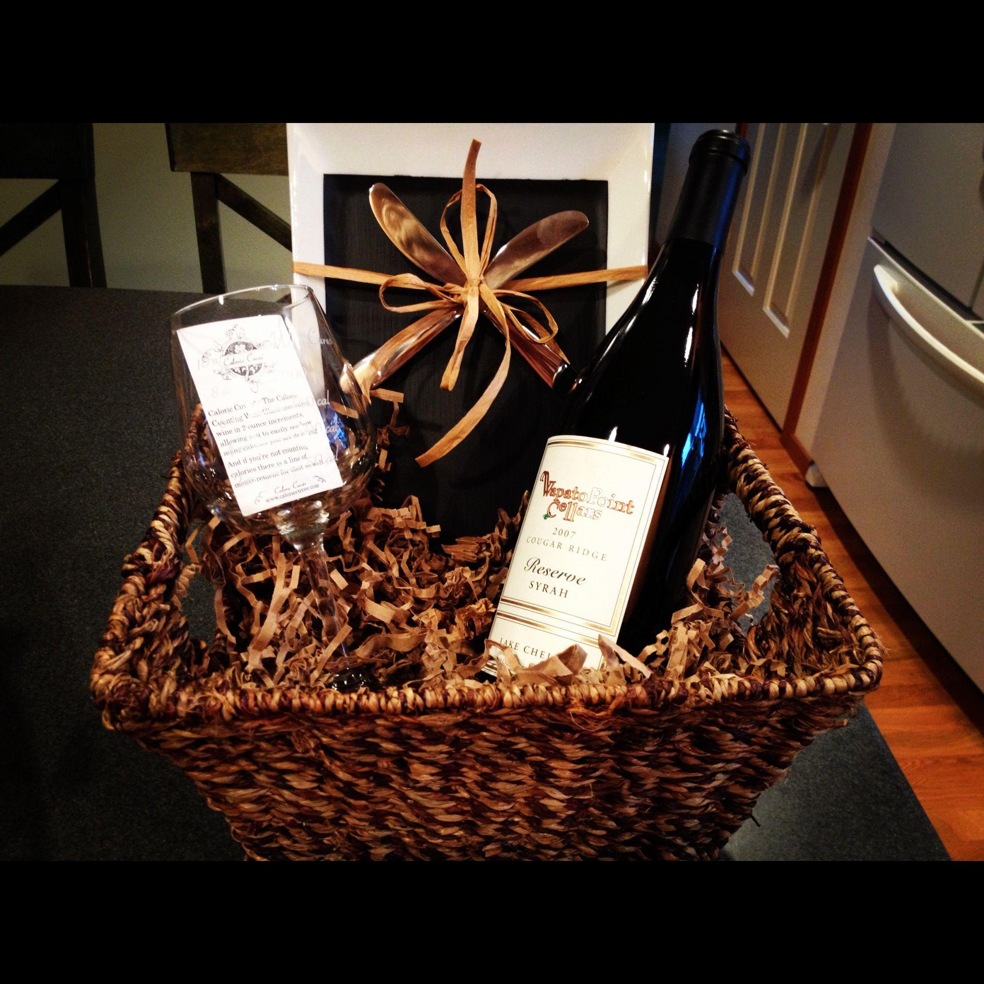 Wine Gift Basket Diaper Raffle Prize Idea Baby Shower