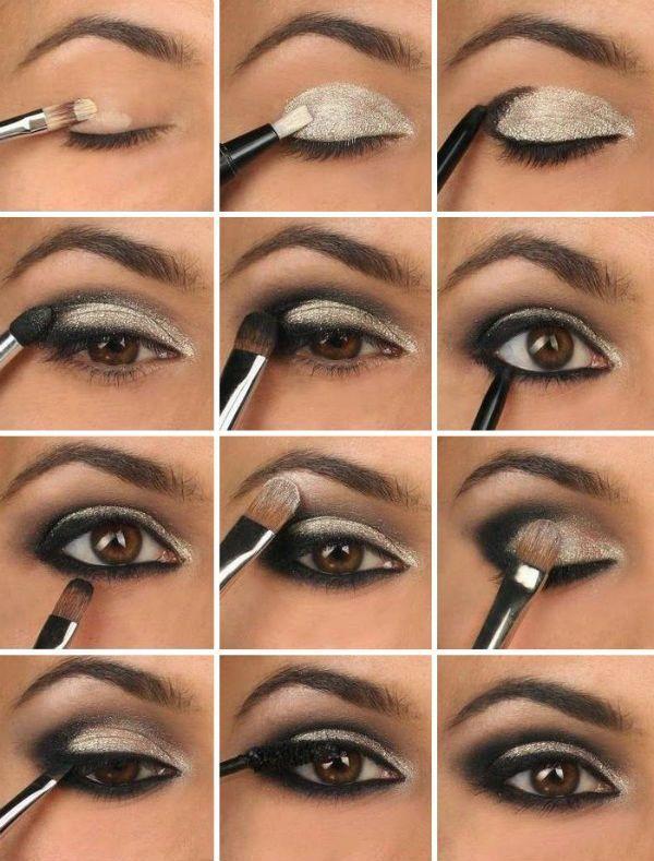 makeup smokey eyes f r braune augen mode diy maquillaje smoky eyes pinterest make up. Black Bedroom Furniture Sets. Home Design Ideas