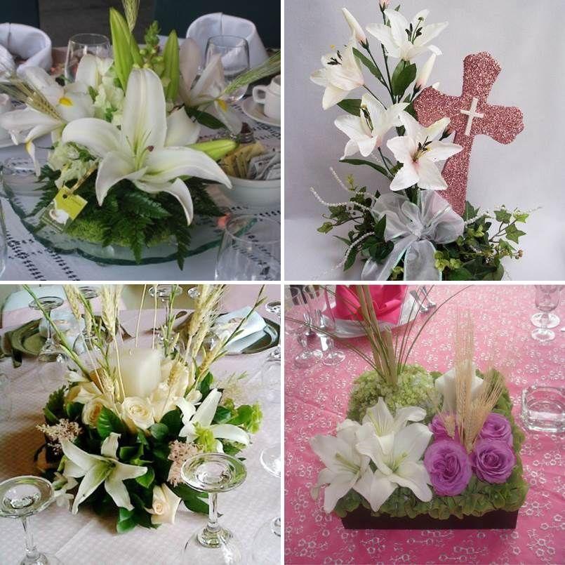Arreglos florales para primera comunion 4 tile majo - Centros de mesa comunion ...