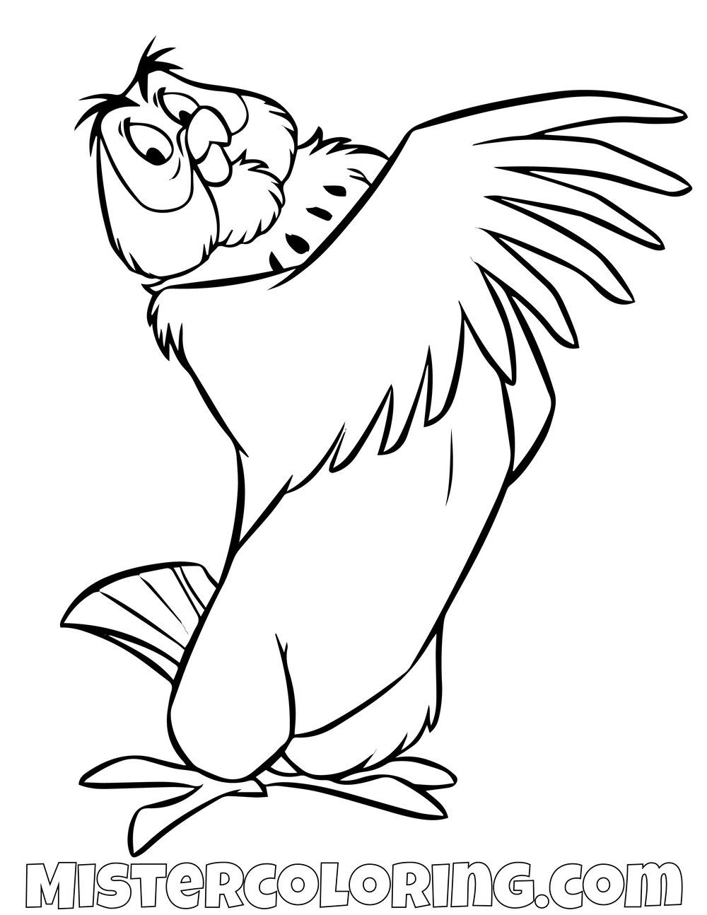 Owl Winnie The Pooh Coloring Page Winnie The Pooh Drawing Owl