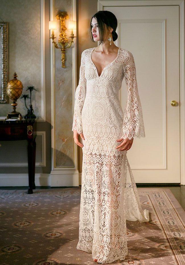 Abiti Da Sposa Hippie Vintage Claire Pettibone.Wedding Dress 2017 Pizzo Stile Vintage Claire Pettibone Abiti Da
