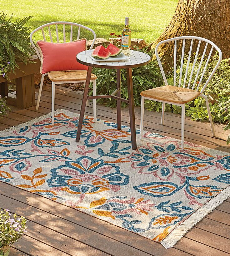 Playful Jacobean Outdoor Rug Outdoor Living Rugs Woven Rug
