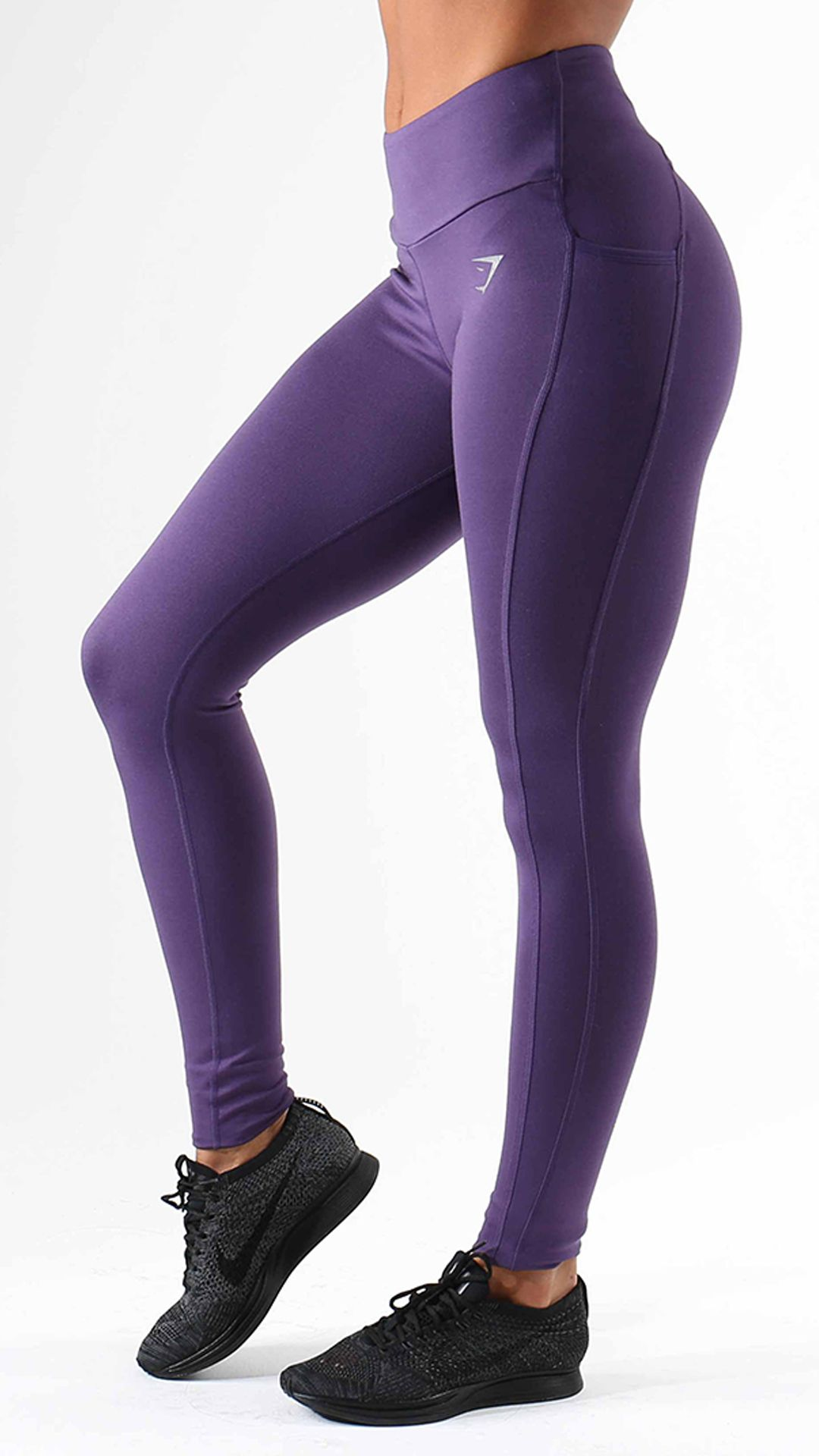 b36d5a0699ecc The Sculpture Leggings in rich purple, are high-waisted and flexible  exercise leggings, with Gymshark DRY technology for a cool, comfortable  workout.