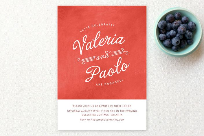 Gelato Engagement Party Invitations by Susie Allen | Minted