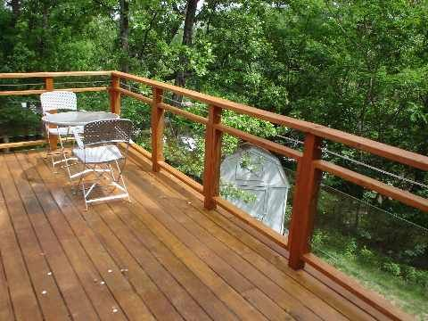 Gl Panel Railings For Decks Thread Attempting Wooden Deck Railing With Tempered