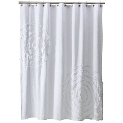 Threshold Ruffle Shower Curtain White White Shower Curtain
